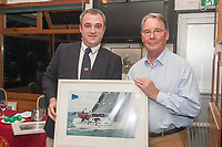 Patrick Beckett  Jostler winner Class 2 Echo receives his prize from Kieran o'Connell Commodore Scora