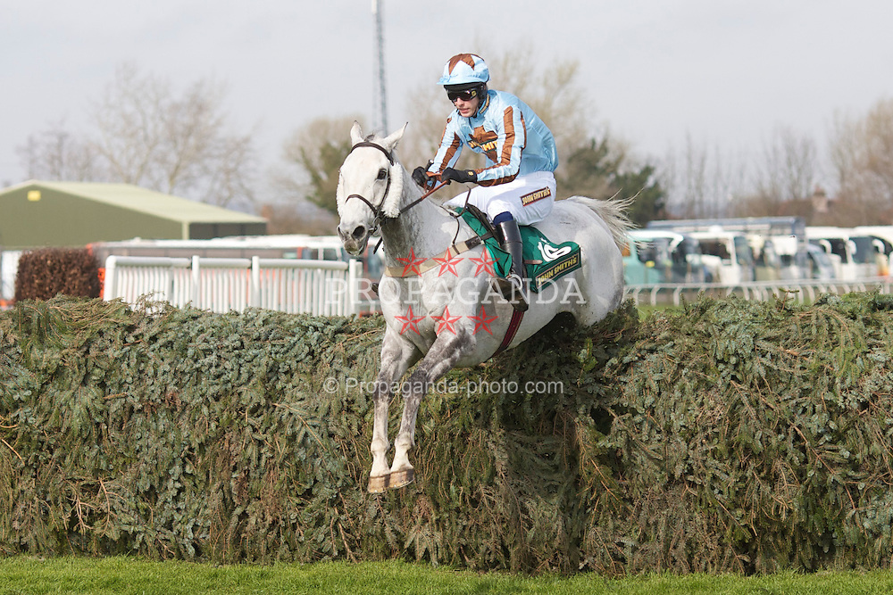 LIVERPOOL, ENGLAND - Thursday, April 8, 2010: Silver Adonis ridden by T Weston during the opening day of the Grand National Festival at Aintree Racecourse. (Pic by David Tickle/Propaganda)