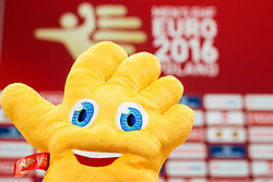 Official mascot High Five of Men's EHF EURO 2016, on January 20, 2016 in Centennial Hall, Wroclaw, Poland. Photo by Vid Ponikvar / Sportida