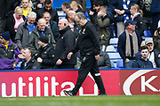 Leeds United Manager Marcelo Bielsa leaves the pitch at full time during the EFL Sky Bet Championship match between Birmingham City and Leeds United at St Andrews, Birmingham, England on 6 April 2019.