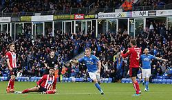 Louis Reed of Peterborough United celebrates scoring his goal - Mandatory by-line: Joe Dent/JMP - 12/10/2019 - FOOTBALL - Weston Homes Stadium - Peterborough, England - Peterborough United v Lincoln City - Sky Bet League One