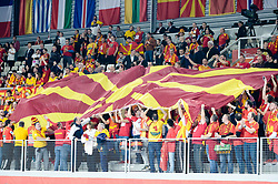 Fans of Macedonia during handball match between National teams of Macedonia and Czech Republic on Day 6 in Main Round of Men's EHF EURO 2018, on January 23, 2018 in Arena Varazdin, Varazdin, Croatia. Photo by Mario Horvat / Sportida