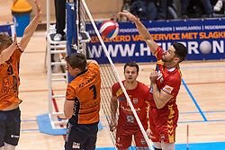 14-04-2019 NED: Achterhoek Orion - Draisma Dynamo, Doetinchem<br /> Orion win the fourth set and play the final round against Lycurgus. Dynamo won 2-3 / Maikel van Zeist #10 of Dynamo