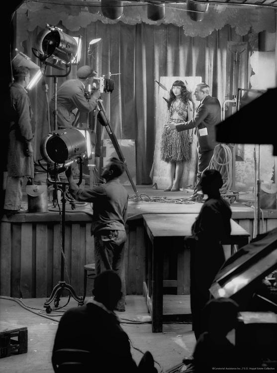 Anna May Wong on the Set at UFA Studios, Potsdam-Babelsberg, 1928