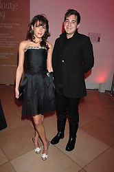 CAROLINE SIEBER and RICHARD DENNEN at the opening party for 'Face of Fashion' an exhibition of photographs by five of the World's leading fashion photographers held at the National Portrait Gallery, St.Martin's Lane, London on 12th February 2007.<br />