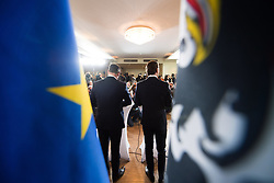 16.12.2017, Kahlenberg, Wien, AUT, Präsentation der neuen türkis-blauen Koalition, im Bild ÖVP-Klubobmann Sebastian Kurz und FPÖ-Klubobmann Heinz-Christian Strache // Head of the Austrian Peoples Party (OeVP) Sebastian Kurz and Head of the Austrian Freedom Party (FPOe) Heinz-Christian Strache during presentation of the new coalition between the Austrian Peoples Party and Austrian Freedom Party in Vienna, Austria on 2017/12/16, EXPA Pictures © 2017, PhotoCredit: EXPA/ Michael Gruber