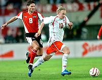 ◊Copyright:<br />GEPA pictures<br />◊Photographer:<br />Helmut Fohringer<br />◊Name:<br />Kuehbauer<br />◊Rubric:<br />Sport<br />◊Type:<br />Fussball<br />◊Event:<br />OEFB, WM Qualifikation, Laenderspiel, Oesterreich vs Polen, AUT vs POL<br />◊Site:<br />Wien, Austria<br />◊Date:<br />09/10/04<br />◊Description:<br />Dietmar Kuehbauer (AUT), Sebastian Mila (POL)<br />◊Archive:<br />DCSFH-091004513<br />◊RegDate:<br />09.10.2004<br />◊Note:<br />8 MB - BK/WU