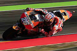 September 23, 2017 - Alcaiz, Spain - Dani Pedrosa of Repsol Honda Team, in action with his Honda, during the Gran Premio Movistar de Aragn free practice 3 on September 23, 2017 in Alcaiz, Spain. (Credit Image: © Joan Cros/NurPhoto via ZUMA Press)