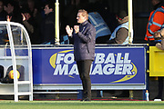 AFC Wimbledon manager Neal Ardley clapping during the EFL Sky Bet League 1 match between AFC Wimbledon and Peterborough United at the Cherry Red Records Stadium, Kingston, England on 12 November 2017. Photo by Matthew Redman.