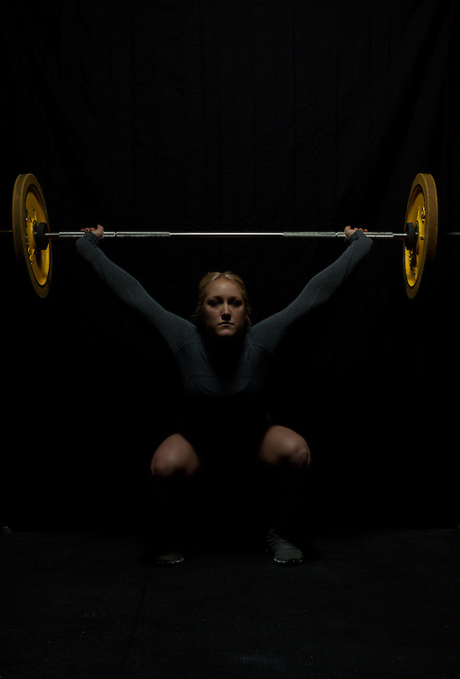Jaelyn Wolf does an overhead squat, OHS, Crossfit image, picture, photo, photography of health, elite, exercise, training, workouts, WODs, taken at Progressive Fitness CrossFit,Colorado Springs, Colorado, USA.