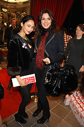 Left to right, HANNAH BHUIYA and Jewellery designer LARA BOHINC at a party to celebrate the opening of the new Uniqlo store at 331 Oxford Street, London W1 on 6th November 2007.<br />