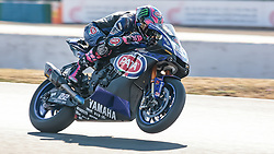 September 28, 2018 - 22, Alex Lowes, GBR, Yamaha YZF R1, Pata Yamaha Official WorldSBK Team, SBK 2018, MOTO - SBK Magny-Cours Grand Prix 2018, Free Practice 3, 2018, Circuit de Nevers Magny-Cours, Acerbis French Round, France ,September 28 2018, action during the SBK Free Practice 3 of the Acerbis French Round on September 28 2018 at Circuit de Nevers Magny-Cours, France (Credit Image: © AFP7 via ZUMA Wire)