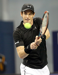 SHANGHAI, Oct. 12, 2016  Britain's Andy Murray returns a shot during the second round singles match against Steve Johnson of the United States at the Shanghai Masters tennis tournament in Shanghai, east China, Oct. 12, 2016. (Credit Image: © Fan Jun/Xinhua via ZUMA Wire)