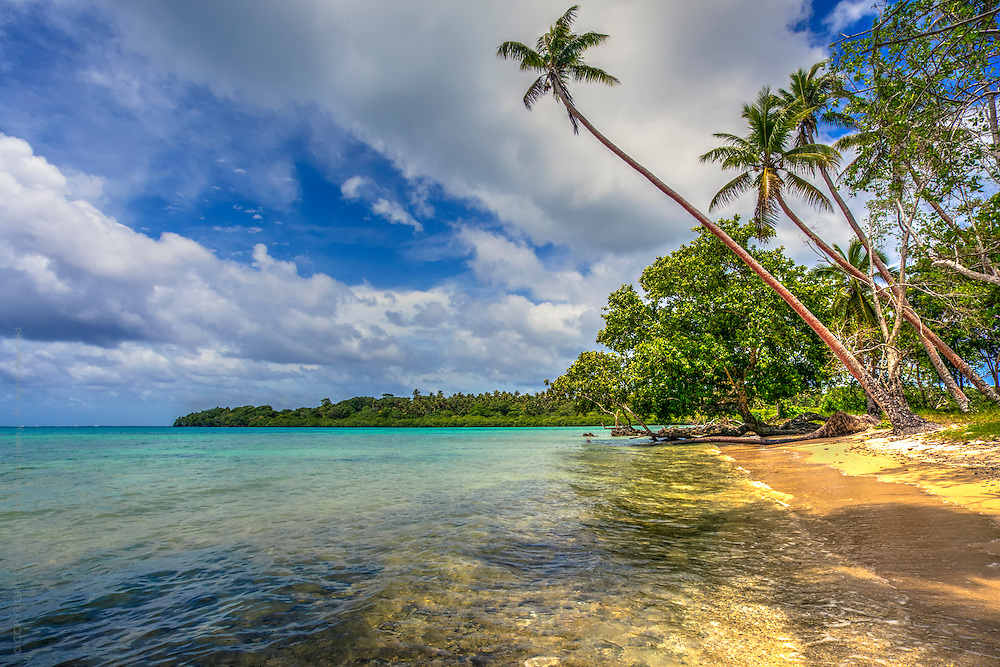 tropical paradise.  a private beach on Efate, Vanuatu