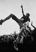 Crowd surfer in the crowd at the Big Day Out Festival Perth W.Australia 1990's