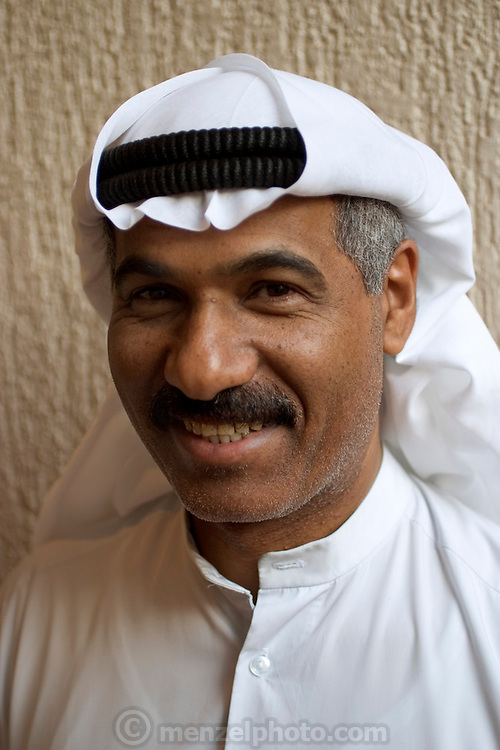(MODEL RELEASED IMAGE). Saleh Hamad Al Haggan, 42, works for Kuwait Oil Company in Kuwait City, Kuwait. (Supporting image from the project Hungry Planet: What the World Eats.)