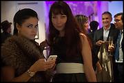 EVA LANSKA; IRINA DOBBS, Sotheby's Frieze week party. New Bond St. London. 15 October 2014.