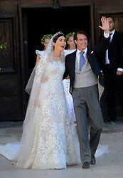 Wedding Of Prince Felix Of Luxembourg & Claire Lademacher, Prince Felix of Luxembourg and his wife German student Claire Lademacher during their wedding at the Saint Mary Magdalene Basilica in Saint-Maximin-La-Sainte-Baume, southern France, September 21, 2013.  Picture by Schneider- Press / i-Images<br /> UK & USA ONLY