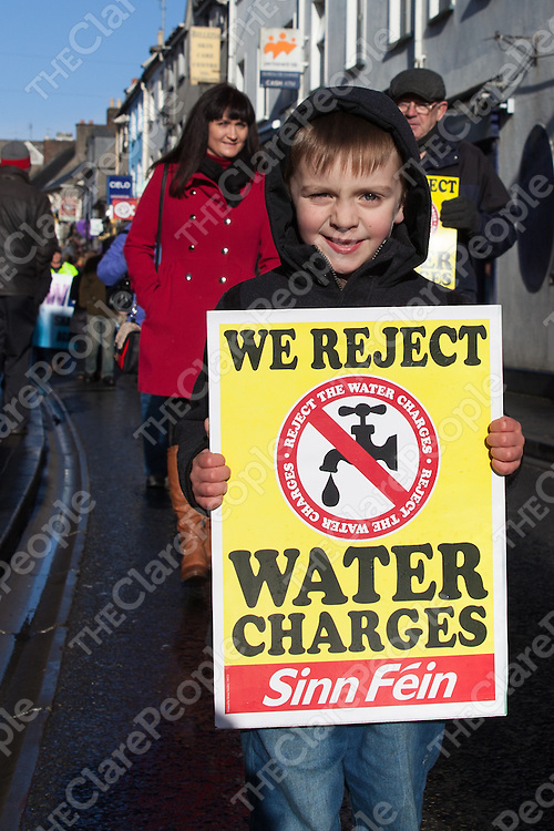 Daniel McMahon Collins from Ennis at the Ennis Water Protest held on Saturday