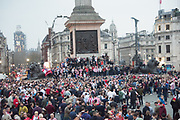 Sunderland Supporters, Trafalgar Sq. London. 30 March 2019