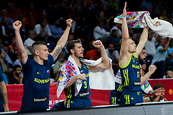 Matic Rebec of Slovenia, Goran Dragic of Slovenia, Jaka Blazic of Slovenia during basketball match between National Teams of Slovenia and Spain at Day 15 in Semifinal of the FIBA EuroBasket 2017 at Sinan Erdem Dome in Istanbul, Turkey on September 14, 2017. Photo by Vid Ponikvar / Sportida