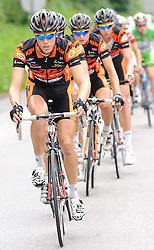 05.07.2010, AUT, 62. Österreich Rundfahrt, 2. Etappe, Landeck-Kitzbüheler Horn, im Bild Team Arbö-KTM-Geb. Weiss, KTM, vorne Stefan Probst (AUT, Arbö-KTM-Geb. Weiss), EXPA Pictures © 2010, PhotoCredit: EXPA/ S. Zangrando / SPORTIDA PHOTO AGENCY