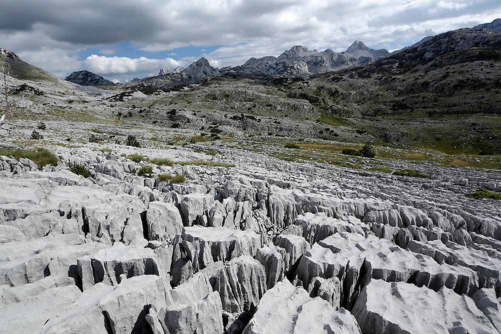 Interesting carst rock formations on Prenj mountain, Bosnia and Herzegovina.