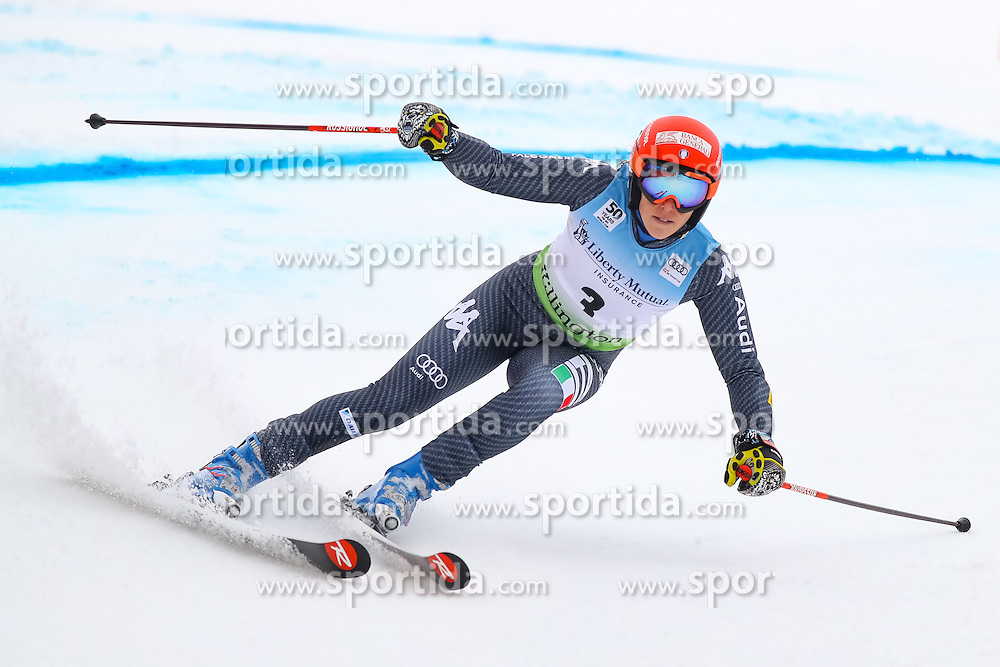 26.11.2016, Killington, USA, FIS Weltcup Ski Alpin, Killington, Riesenslalom, Damen, 1. Lauf, im Bild Federica Brignone (ITA) // Federica Brignone of Italy in action during 1st run of ladies giant slalom of FIS ski alpine world cup at the Killington, Austria on 2016/11/26. EXPA Pictures &copy; 2016, PhotoCredit: EXPA/ SM<br /> <br /> *****ATTENTION - OUT of GER*****