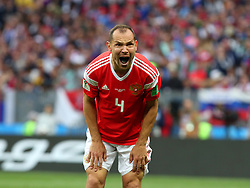 June 14, 2018 - Moscow, Russia - 14 June 2018, Russia, Moscow, FIFA World Cup, First Round, Group A, First Matchday, Russia vs Saudi Arabia at the Luzhniki Stadium. Player Sergey Ignashevich  (Credit Image: © Russian Look via ZUMA Wire)