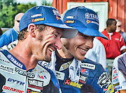16 AUGUST 2009: AMA at Virginia international race way .Superbikes saw Josh Hayes sweep the weekend with wins both days. Tommy Haden was second on Sunday and Ben Bostrom got 3d. Mat Mladin  clinched a record-extending seventh AMA Pro National Guard American Superbike at VIR.4 Josh Hayes Yamaha Yamaha YZF-R1 and 2 Ben Bostrom Yamaha Yamaha YZF-R1