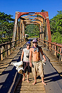 Boys and bridge, San Carlos area, Pinar del Rio, Cuba.