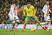 Norwich City goalscorer, midfielder Jacob Murphy on the ball during the EFL Sky Bet Championship match between Norwich City and Brentford at Carrow Road, Norwich, England on 3 December 2016. Photo by Nigel Cole.