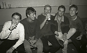 Shaun Ryder and Happy Mondays backstage, The Haçienda, Manchester, 1989