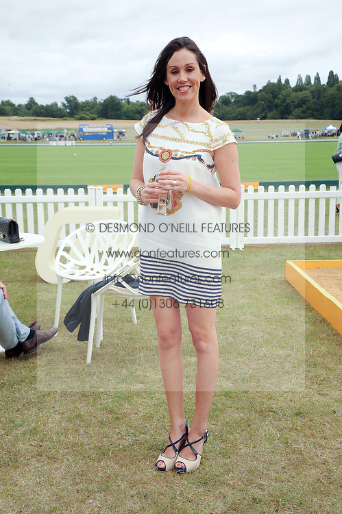 LUCY RUSEDSKI at the Veuve Clicquot Gold Cup polo final held at Cowdray Park, Midhurst, West Sussex on 18th July 2010.