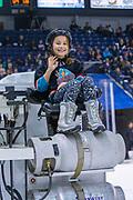 KELOWNA, CANADA - FEBRUARY 16: Orchard Park Zamboni Rider at the Kelowna Rockets game on February 16, 2019 at Prospera Place in Kelowna, British Columbia, Canada. (Photo By Cindy Rogers/Nyasa Photography, *** Local Caption ***