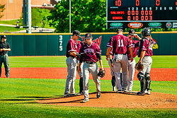 20 May 2019:  Mason Hiser is relieved of the pitching duties. Missouri Valley Conference Baseball Tournament - Southern Illinois Salukis v Illinois State Redbirds at Duffy Bass Field in Normal IL<br /> <br /> #MVCSPORTS