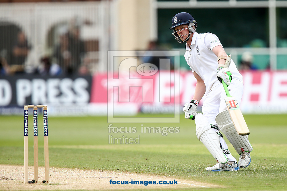 Sam Robson of England turns for another run during the Investec Test Match match at Trent Bridge, West Bridgford<br /> Picture by Andy Kearns/Focus Images Ltd 0781 864 4264<br /> 11/07/2014