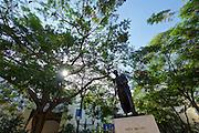 Havana, Cuba. La Habana Vieja (Old Habana). Simon Bolivar statue.