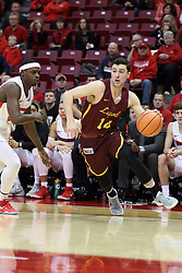 10 January 2018:  Ben Richardson defended by Milik Yarbrough during a College mens basketball game between the Loyola Chicago Ramblers and Illinois State Redbirds in Redbird Arena, Normal IL