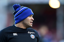 Jonathan Joseph of Bath Rugby looks on during the pre-match warm-up - Mandatory byline: Patrick Khachfe/JMP - 07966 386802 - 04/01/2020 - RUGBY UNION - Kingsholm Stadium - Gloucester, England - Gloucester Rugby v Bath Rugby - Gallagher Premiership