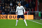 Roberto Firmino (9) of Liverpool during the Premier League match between Bournemouth and Liverpool at the Vitality Stadium, Bournemouth, England on 7 December 2019.