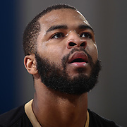 Erie BayHawks Guard AARON HARRISON (2) attempts a free throw in the first half of a NBA D-league regular season basketball game between the Delaware 87ers and the Erie BayHawks Tuesday, Mar. 29, 2016, at The Bob Carpenter Sports Convocation Center in Newark, DEL.