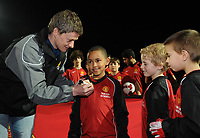"""20090213: CARNAXIDE, PORTUGAL - Manchester United Reserves coach Ole Gunnar Solskjaer visits the Carlos Queiroz (Portuguese national team coach and former assistant coach of Manchester United) Football Academy, named """"Football By Carlos Queiroz"""". The Norwegian former player and UNICEF Ambassador will scout young players training at the academy. In picture: Ole Gunnar Solskjaer. PHOTO: Alvaro Isidoro/CITYFILES"""