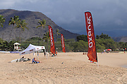 November 1st 2010: Makaha Beach during the trails for the ASP World Longboard Championship at Makaha Oahu-Hawaii. Photo by Matt Roberts/mattrIMAGES.com.au