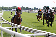 PRECIOUS RAMOTSWE (6) ridden by jockey Rob Havlin and trained by John Gosden winning The inaugural running of the Group 3 Al Basti Equiworld Dubai Bronte Cup over 1m 6f (£90,000)at York Racecourse, York, United Kingdom on 26 May 2018. Picture by Mick Atkins.