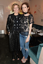 Left to right, GEMMA METHERINGHAM chief creative officer Karen Millen and STEPHANIE LA CAVA at a supper and screening of 'No More Tiaras' a film by Mary Nighy held at Shrimpy's, King's Cross Filling Station, Goods Way, London on 7th May 2014.