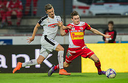 25.05.2016, Franz Fekete Stadion, Kapfenberg, AUT, 2. FBL, KSV 1919 vs SV Austria Salzburg, 36. Runde, im Bild Halid Hasanovic (SV Austria Salzburg), Florian Flecker (KSV 1919) // during the Austrian Erste Liga Match, 36th Round, between KSV 1919 and SV Austria Salzburg at the Franz Fekete Stadium, Kapfenberg, Austria on 2016/05/25, EXPA Pictures © 2016, PhotoCredit: EXPA/ Dominik Angerer