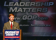 Florida Congressman Adam Putnam campaigns for George W. Bush in 2004 in Sun City Center, Florida.