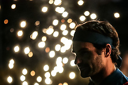 DUBAI, March 1, 2019  Roger Federer of Switzerland reacts during the singles quarterfinal match between Roger Federer of Switzerland and Marton Fucsovics of Hungary at the ATP Dubai Duty Free Tennis Championships 2019 in Dubai, the United Arab Emirates, Feb. 28, 2019. Roger Federer won 2-0 to proceed to the semifinals. (Credit Image: © Mahmoud Khaled/Xinhua via ZUMA Wire)