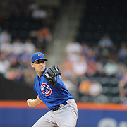 Pitcher Kyle Hendricks, Chicago Cubs, pitching during the New York Mets Vs Chicago Cubs MLB regular season baseball game at Citi Field, Queens, New York. USA. 30th June 2015. Photo Tim Clayton